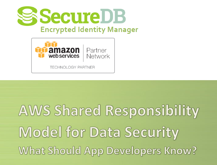 AWS Shared Responsibility Model for Data Security - SecureDB Whitepaper